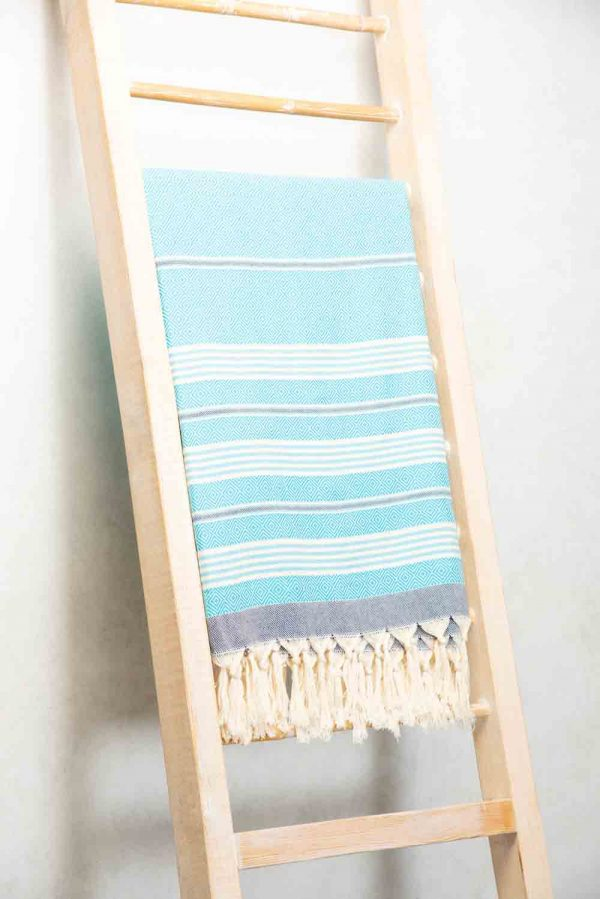 Hand woven 100% cotton beach blanket