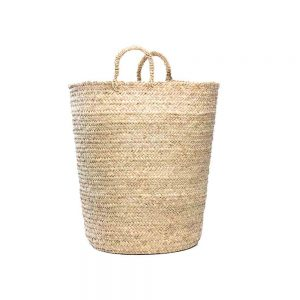 Hand woven Moroccan large basket planter