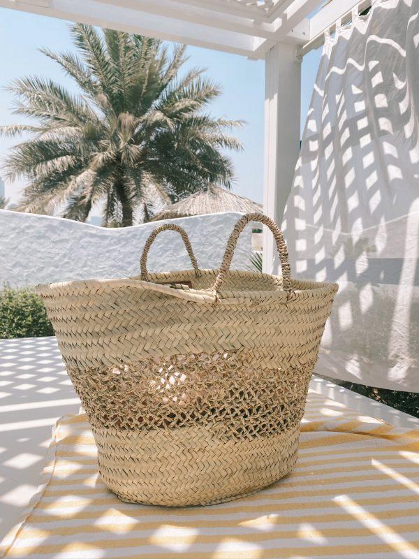 Desert Totes Straw Lattice Tote Bag