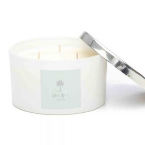 Hand poured, vegan soy wax candle in scent Gingerlily and Ylang Ylang