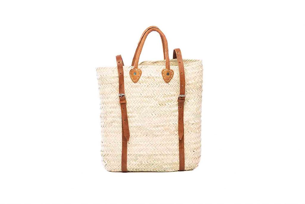 Desert Totes hand woven straw Moroccan backpack