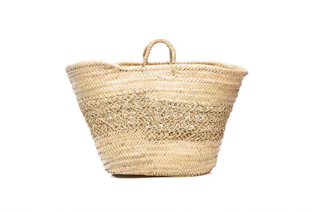 Desert Totes hand woven straw lattice tote bag