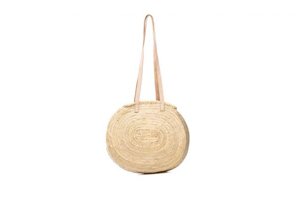 Desert Totes hand woven Moroccan shoulder bag with leather straps